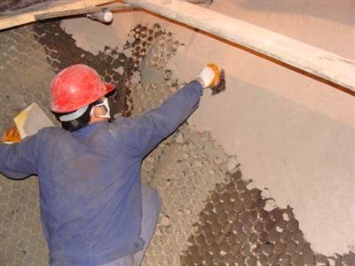 供应发电厂脱硝烟道龟甲网耐磨陶瓷涂料图片