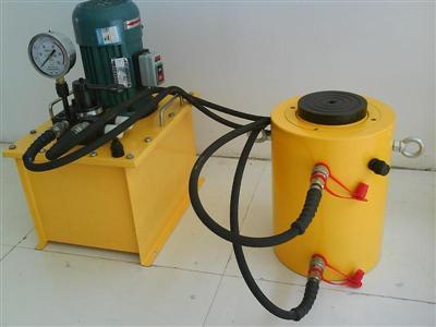 液压空心千斤顶,超高压液压泵站,液压电动泵,中空千斤顶,同步千斤顶图片
