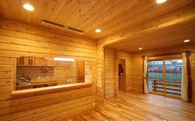 厂家直销优质杉木墙板墙壁板桑拿板 威海防腐木桑拿板木蜡高清图片