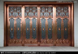 西青区铜门,御园别墅定做,高档铜门厂安装,西青铜门别墅万夏义乌图片