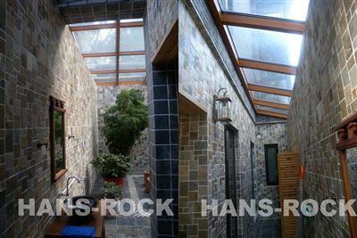 别墅下沉式庭院木结构阳光房图片