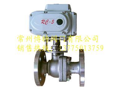 q941f q941h电动法兰球阀 调节型电动球阀图片