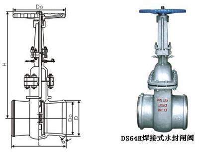dsz64h焊接式水封闸阀图片