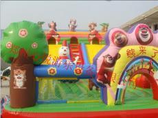 双十一大型充气滑梯现货促销 儿童蹦蹦床厂
