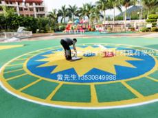 深圳EPDM橡胶地面 卡通地面图案幼儿园