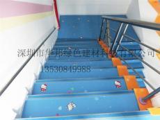 广东PVC胶地板 儿童弹性卷材卡通图案地胶