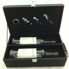 山東紅酒皮盒現貨 高檔葡萄酒包裝禮盒定做