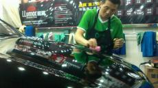 西安汽车镀晶奔驰gl550汽车漆面镀晶施工