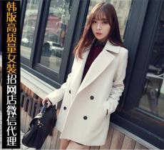 韩版女装新款毛呢大衣货源多衣服质量嘎嘎好