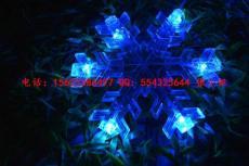LED雪花灯串 造型LED雪花骨架型 挂树雪花