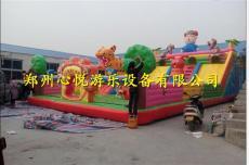 郑州熊出没攀岩充气大滑梯现货 儿童蹦蹦床