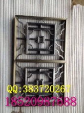 定做复古拉丝青古铜不锈钢花格屏风隔断厂家