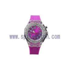 直銷七彩閃燈手表指針運動表時尚手表