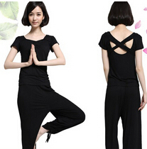 瑜伽服女春夏季莫代尔两件套装韩版瑜珈服健