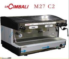 金佰利M27新款双头商用半自动咖啡机手控