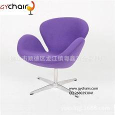 天鹅椅 绒布休闲椅 玻璃钢天鹅椅