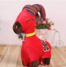 羊年吉祥物毛绒玩具羊羚羊