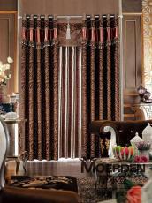 書房窗簾卷簾中式簡約新型物理環保遮光窗簾