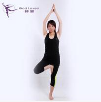 瑜伽七分裤 四针六线