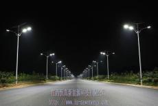 恒真承建9米纯太阳能路灯照明 365天整晚亮