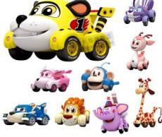 灵动咘隆家族玩具车布隆家族