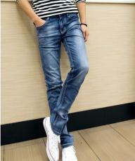 2015年秋冬新款韓版直筒修身男式牛仔褲男裝