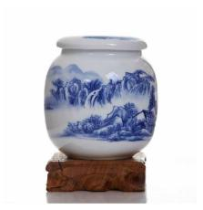 青花瓷茶叶罐定制厂家