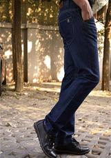 秋冬款韓版牛仔褲直筒青男式厚款