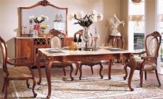 法式实木餐厅成套家具 实木家具