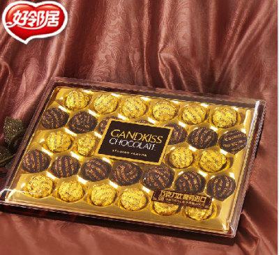 好邻居纯可可脂金吻比利时进口巧克力高档礼