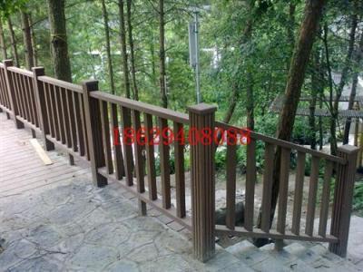青海木塑栏杆 pvc楼梯扶手 青海廊架凉亭厂