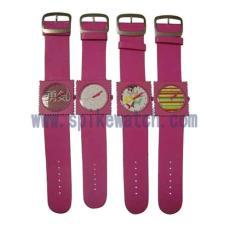 廠家直銷時尚郵票表PU/仿皮表帶 可愛個性