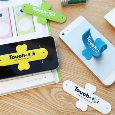 东莞手机支架厂家 环保塑胶硅胶u型手机托架