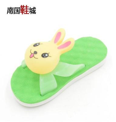 新款小白兔叫叫鞋 吹气拖鞋批 卡通童凉拖
