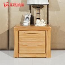 臥室床邊柜 簡約臥室儲物柜 實木床頭柜定制