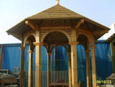 兰州防腐木凉亭批发设计安装 钢木结构凉亭