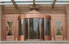 古銅旋轉門環柱門手動電動高檔酒店賓館專用