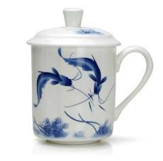 景德镇陶瓷会议杯 加印logo