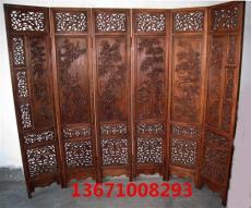 紅木雕刻屏風 紅木鏤空座屏 北京插屏 酒店