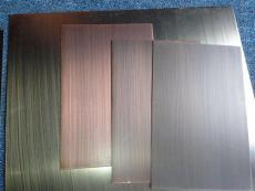 订制红古铜不锈钢拉丝板 厂价直销铜门首选