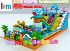 山西长治充气大滑梯/儿童最爱的鲨鱼滑滑梯