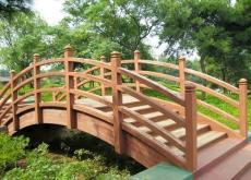 兰州精美价低的防腐木木桥 拱形桥