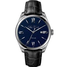 DeFeels十大时尚品牌石英男士真皮腕表F1038