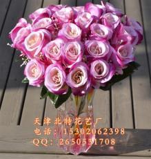 24杈24头情人玫瑰仿真花厂家 客厅仿真花批