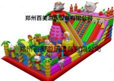 河北沧州充气大滑梯多少钱一平-喜气羊羊垫